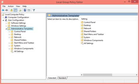 administrative templates disable aero shake in windows 8 8 1 via policy editor