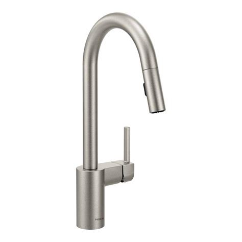 moen stainless steel kitchen faucet moen align single handle pull sprayer kitchen faucet