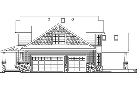 elevation of house plan craftsman house plans tillamook 30 519 associated designs