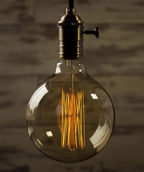 large filament light edison globe squirrel cage extra large vintage filament