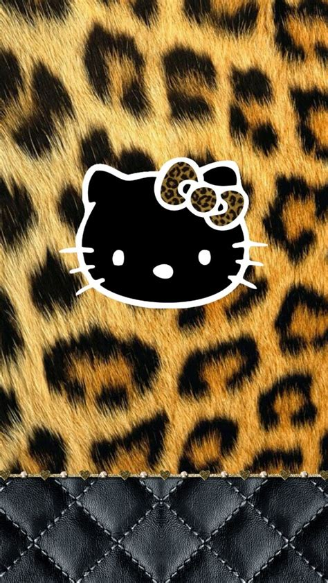 wallpaper hello kitty leopard dazzle my droid wild kitty wallpaper collection