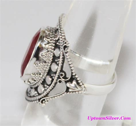ruby ring ruby rings in silver from india