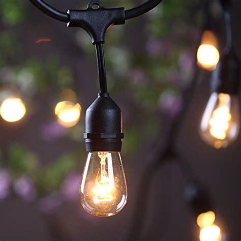 Outdoor Patio String Lights Commercial Outdoor Commercial String Lights Amlight 24 Ft Heavy Duty Weatherproof Lighting Strands 14