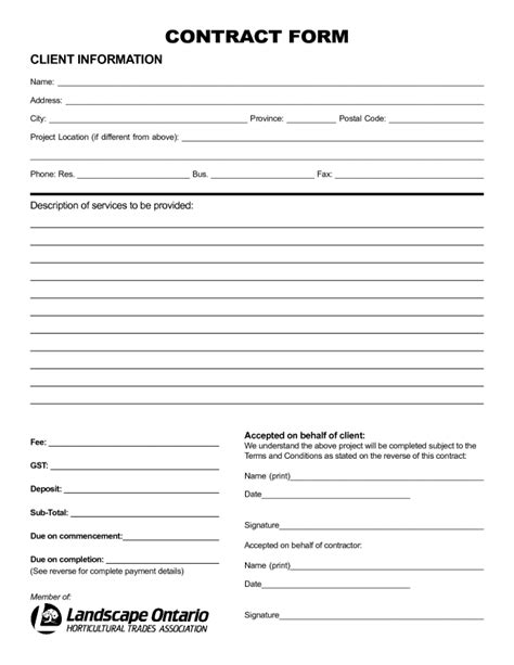 Nice Sle Of Printable Blank Contract Template With Client Information And Description Of Data Purchase Agreement Template