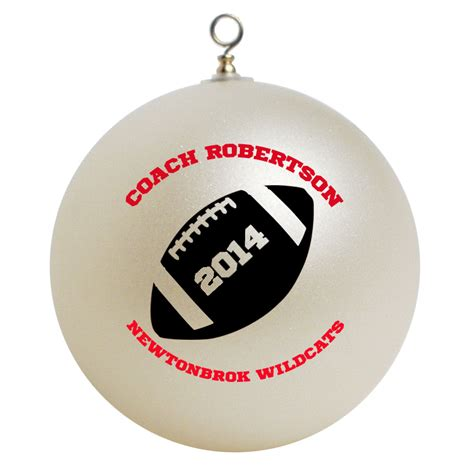 personalized football coach christmas ornament gift