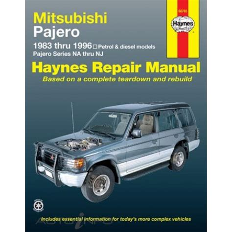 how to download repair manuals 1987 mitsubishi pajero head up display haynes manual mitsubishi pajero 1983 1997 68765