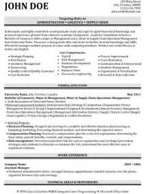Logistics Manager Resume by Top Supply Chain Resume Templates Sles