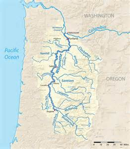 Map Of Oregon Rivers by Gallery For Gt Willamette River Map