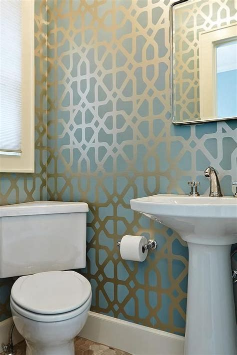 contemporary bathroom wallpaper 1000 ideas about trellis wallpaper on damask