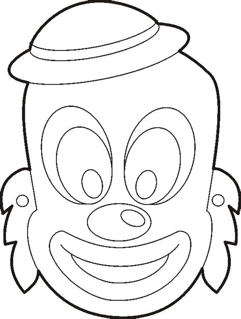 clown mask template tzivos hashem purim crafts