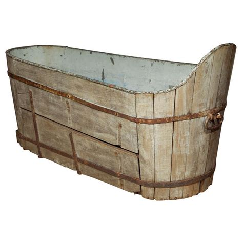 antique bathtub antique wooden and copper bath at 1stdibs