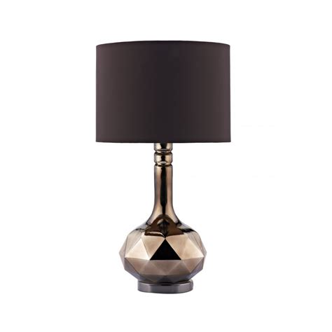 Table Lamps Modern by Modern Brown Glass Table Lamp Amp Chocolate Shade