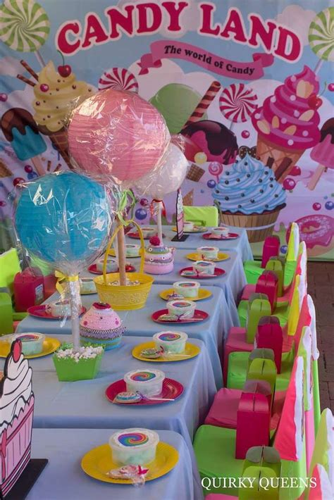 candyland themed decorations land birthday ideas birthday tables