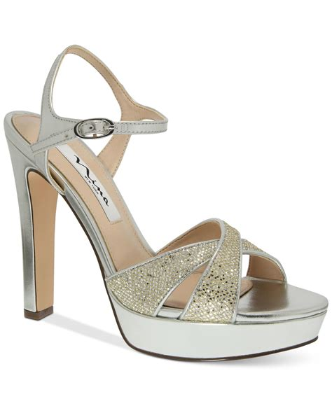 gold evening sandals evening sandals in gold soft platino lyst