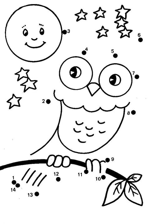 printable owl activities dot to dot great website with multiple dot to dots