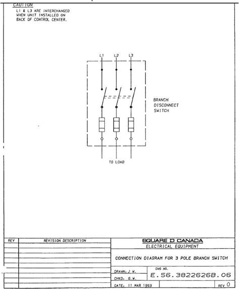 connection diagram for 3 pole branch switch tm 5 3895