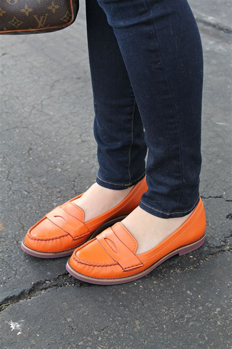 orange loafers cole haan orange loafers bows sequins