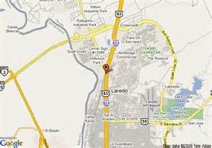 where is laredo on the map map of days inn suites laredo tx laredo