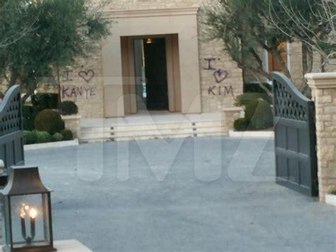 kim kardashian new house kim kardashian kanye west new house gets tagged and