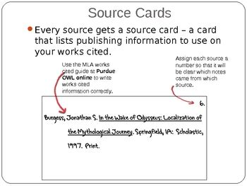 research source card template research paper mla note cards