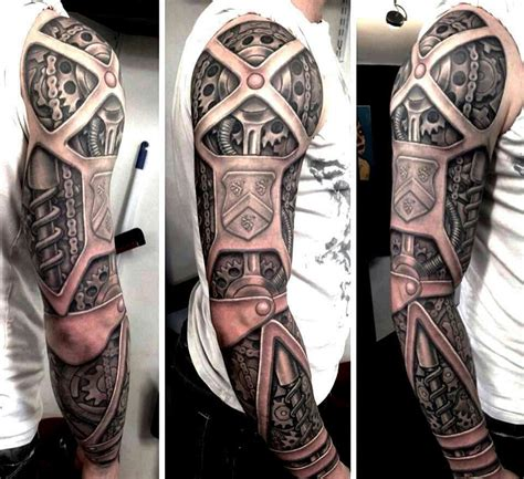 amazing 3d tattoos awesome biomechanical 3d on sleeve