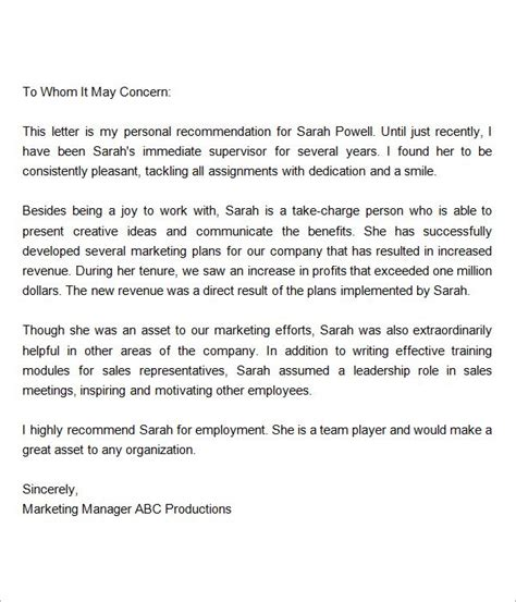 Letter Of Recommendation Kitchen Manager 7 best images about reference letter on