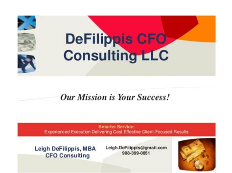 Fairleigh Dickinson Mba Cost by Defilippis Cfo Consulting Llc March 2014