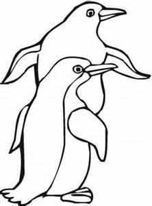 coloring page penguin images