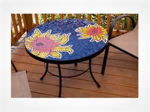 Design For Mosaic Patio Table Ideas Sunflower Mosaic Table