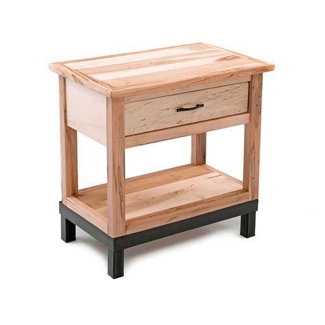 Metal Nightstands With Drawers Metal Nightstands With Drawers Wave One Drawer Nightstand With Metal Legs Shady Grove Wood