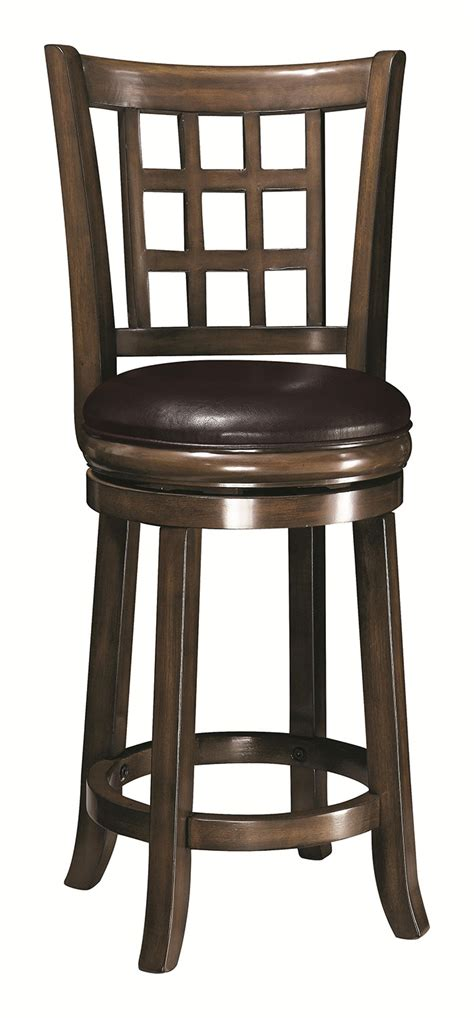 oak wood bar stools coaster 24 inch wooden bar stool oak 102639 at