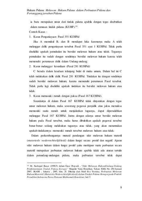Contoh Analogi Dalam Hukum Pidana - Cab Contoh