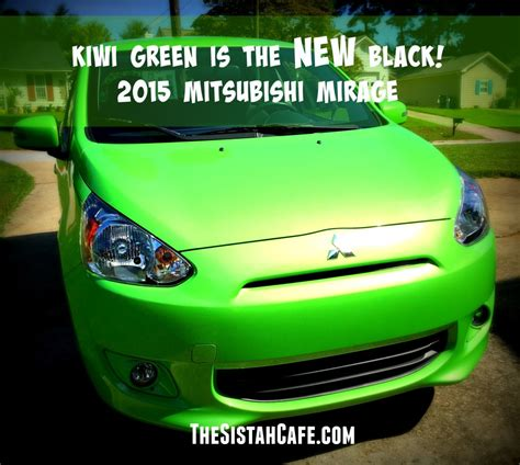mitsubishi mirage 2015 black kiwi green is the new black 3 things that surprised me