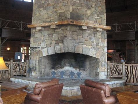 Big Fireplace by Stack Fireplace In Large Sitting Area Has Beautiful Views Picture Of Brasstown Valley