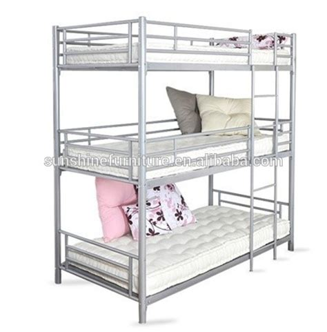 3 Tier Bunk Bed Wholesale Modern Bedroom Furniture 3 Tier Metal Bunk Bed Three Bunk Bed Buy