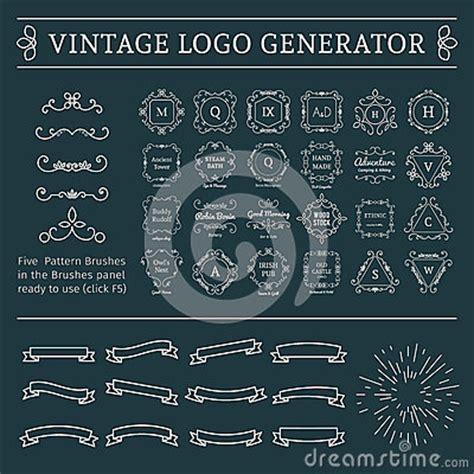 vintage logo generator stock vector image of brush vintage logo generator stock vector image 63544356