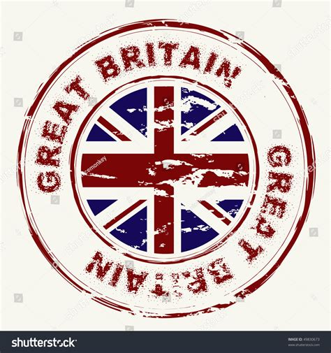 Search Great Britain Great Britain Grunge Ink Rubber St With Union Flag Illustration Vectorielle Libre