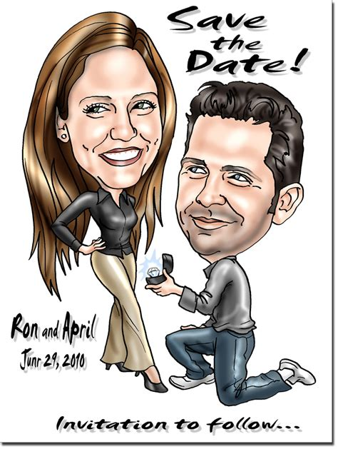 wedding invitations caricature drawings caricature save the dates and invitations
