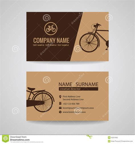bike business card template business card for vintage bicycle shop or about the