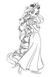disney tangled rapunzel coloring pages kids online world