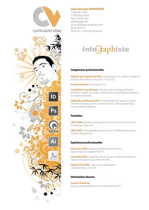Artistic Resume by Graphic Design Resumes Plain Or Different Part I