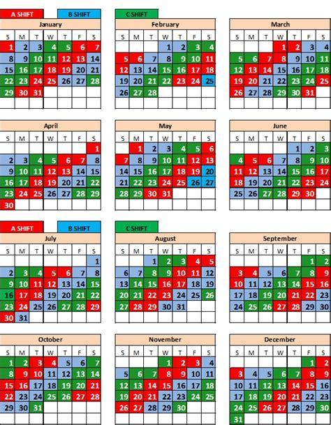 printable kelly schedule firefighter shift calendar tolg jcmanagement co