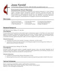 secretarial resume template resume best template collection