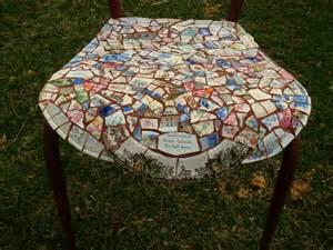 dishfunctional designs broken china mosaic chair project