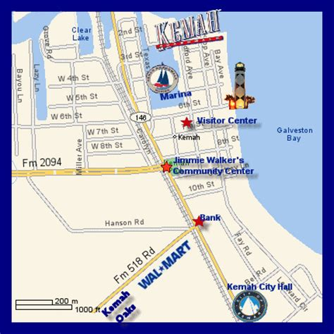 kemah texas map the kemah texas map