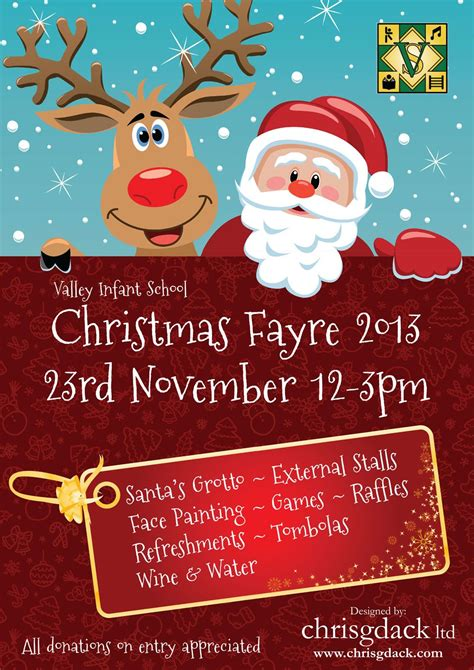 templates for christmas posters poster designed for valley infant school s christmas fayre