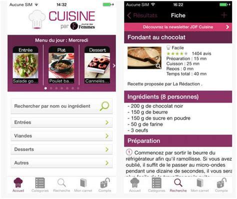 application recette de cuisine application de recettes de cuisine laquelle choisir