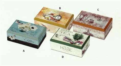 derivato di porta scatola porta bustine the te tea 6 scomparti in mdf 4
