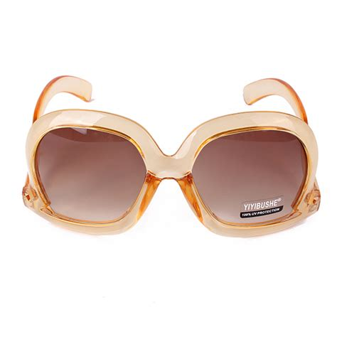s retro oversized sunglasses square frame bent leg