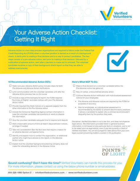 Verified Volunteers Background Check Your Adverse Checklist Getting It Right Verified Volunteers